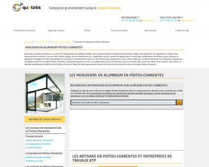 Menuisier en aluminium Poitou-Charentes,...