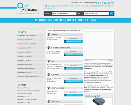 Menuisier PVC Meurthe-et-Moselle (54)