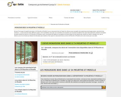 Menuisier bois 54, Entreprise travaux de...