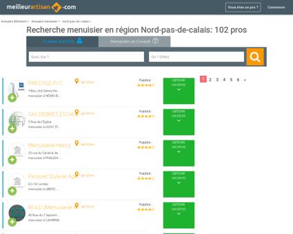 Menuisier NORD-PAS-DE-CALAIS - Trouver...