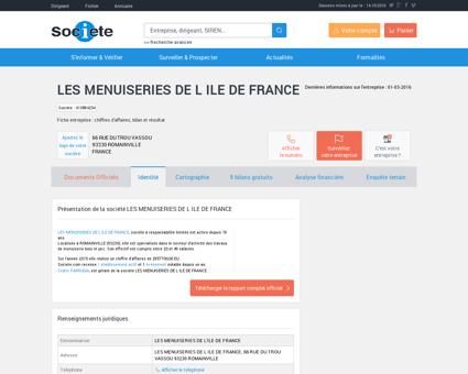 LES MENUISERIES DE L ILE DE FRANCE...