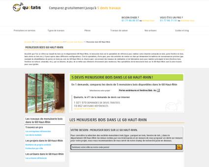 Menuisier bois 68, Entreprise travaux de...