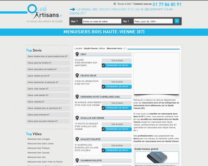 Menuisier bois Haute-Vienne (87)