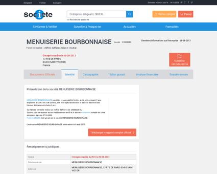 MENUISERIE BOURBONNAISE (SAINT VICTOR)...