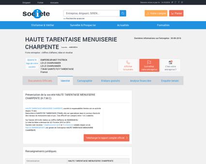 HAUTE TARENTAISE MENUISERIE (SAINTE FOY...