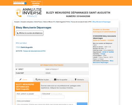BLEZY MENUISERIE DéPANNAGES à Saint...
