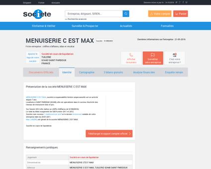 MENUISERIE C EST MAX (SAINT PARDOUX)...