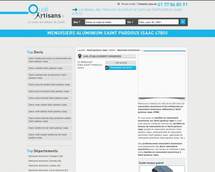 Menuisier aluminium Saint pardoux isaac 47800