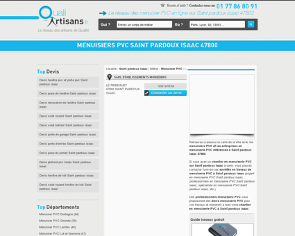 Menuisier PVC Saint pardoux isaac 47800
