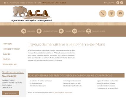 Menuiserie Saint-Pierre-de-Mons,creation...