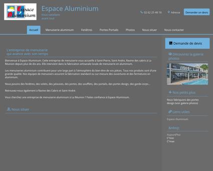 Espace Aluminium à Saint-Pierre en Réunion...