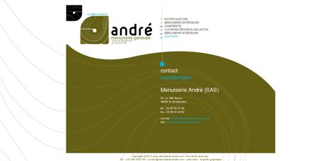 coordonnées - contact sur menuiseries André