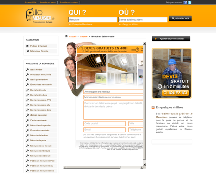 Menuisier Sainte-eulalie 33560
