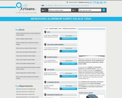 Menuisier aluminium Sainte Eulalie 33560