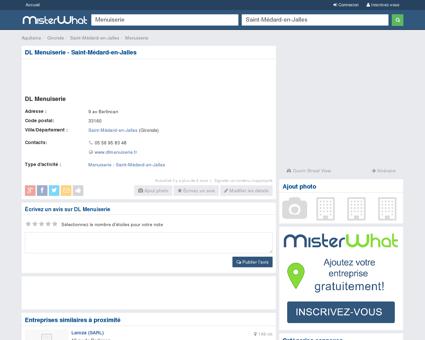 DL Menuiserie Saint-Médard-en-Jalles 33160,...