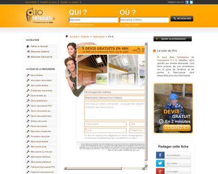 C L V Menuisier à Saint-privat 07200