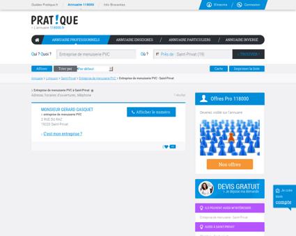 Entreprise de menuiserie PVC à Saint-Privat...