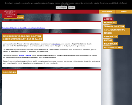 Menuiserie (entreprises) - Arnaud Lefebvre à...