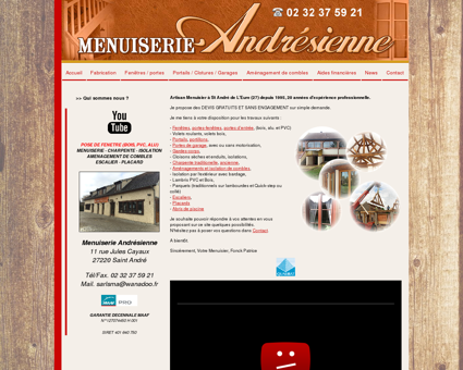 Menuiserie andrésienne - Menuisier Eure...