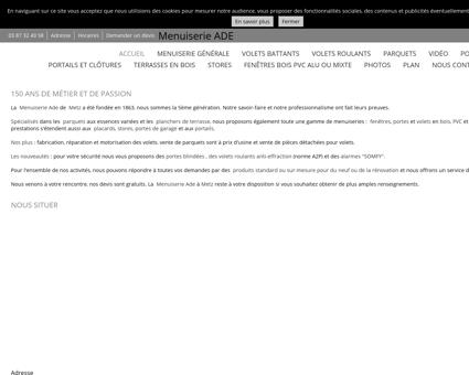 Menuiserie (entreprises) - Menuiserie ADE à...