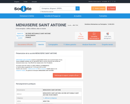 MENUISERIE SAINT ANTOINE (ENNERY)...