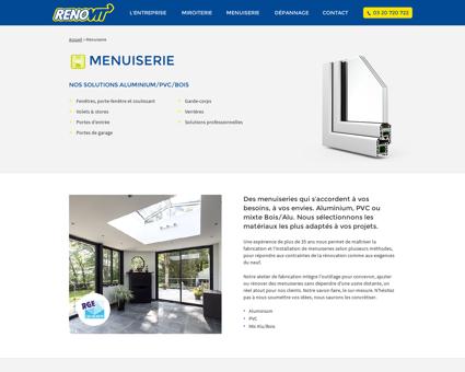 Menuiseries aluminium Wasquehal - Rénovit'