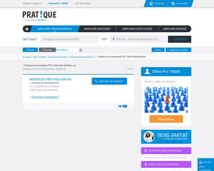 Entreprise de menuiserie PVC à Saint-Clar-de...