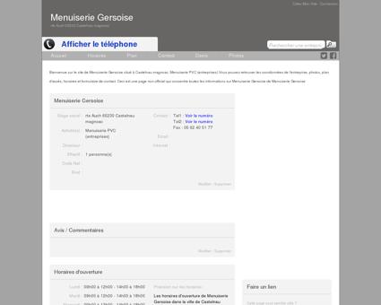 Site de Menuiserie Gersoise à Castelnau...