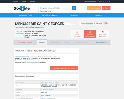 MENUISERIE SAINT GEORGES (VILLEFRANCHE...