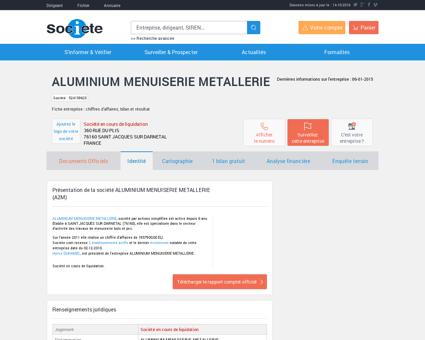ALUMINIUM MENUISERIE METALLERIE (SAINT...