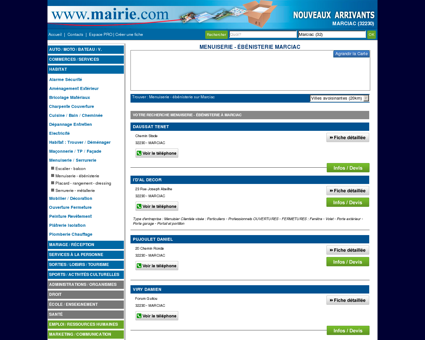 Menuiserie - ébénisterie Marciac : Mairie.com