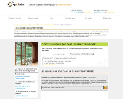 Menuisier bois 65, Entreprise travaux de...