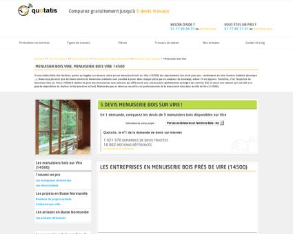 Menuisier bois Vire, Menuiserie bois Vire 14500