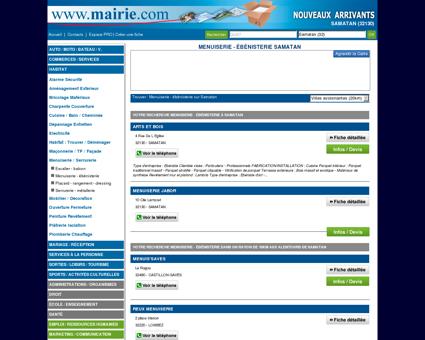 Menuiserie - ébénisterie Samatan : Mairie.com