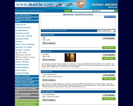 Menuiserie - ébénisterie Ariège : Mairie.com
