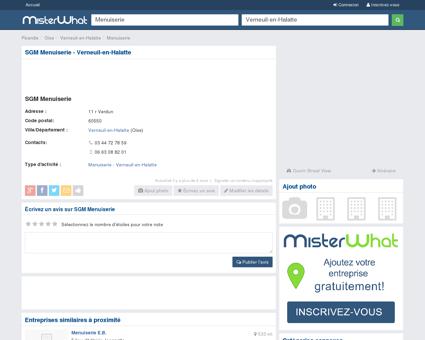 SGM Menuiserie Verneuil-en-Halatte 60550,...