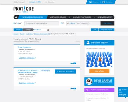 Entreprise de menuiserie PVC à Trie-Château