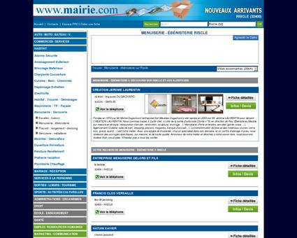 Menuiserie - ébénisterie Riscle : Mairie.com