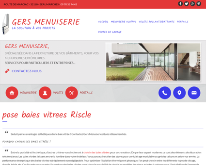 pose baies vitrees Riscle - GERS MENUISERIE