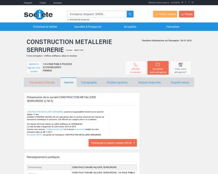 CONSTRUCTION METALLERIE SERRURERIE...