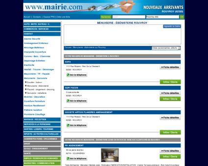 Menuiserie - ébénisterie Rouvroy : Mairie.com