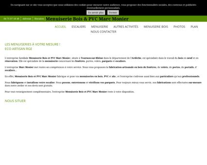 Menuiserie Bois & PVC Marc Monier à...