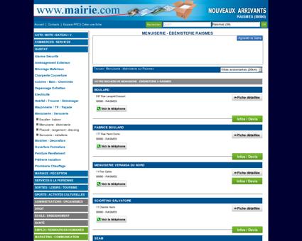 Menuiserie - ébénisterie Raismes : Mairie.com