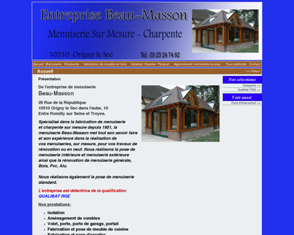 Menuiserie Beau-Masson à Origny Le Sec -...
