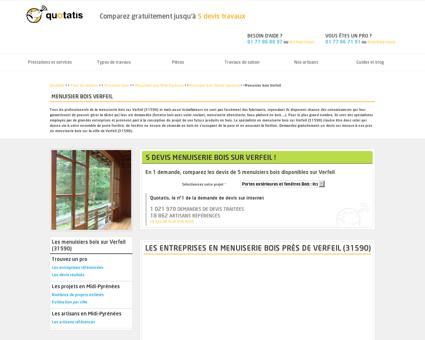 Menuisier bois Verfeil - 5 devis gratuits