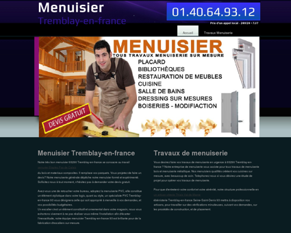 Menuiserie & Menuisier Tremblay-en-france,...