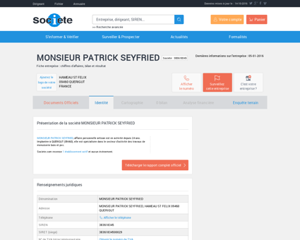 MONSIEUR PATRICK SEYFRIED (QUERIGUT)...