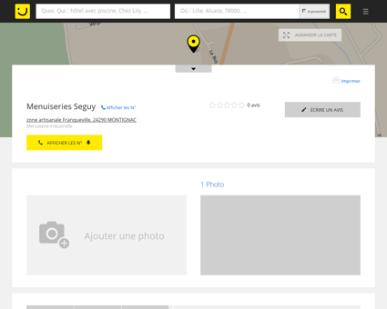 Menuiseries Seguy Montignac (adresse,...