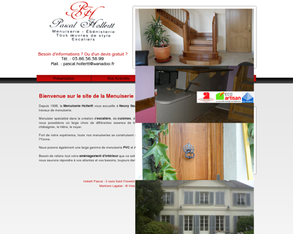 Menuisier Yonne, Pascal Hollertt, fabrication...