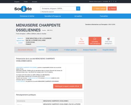 MENUISERIE CHARPENTE OSSELIENNES...